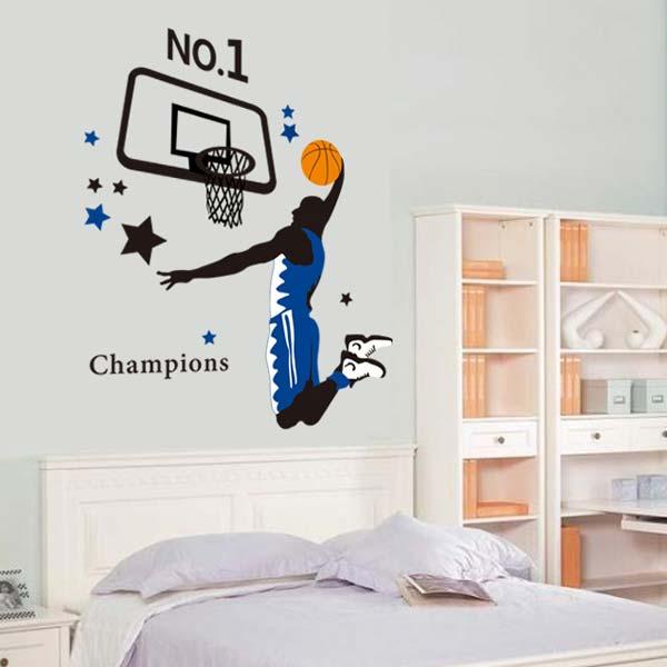 Basketball Player Wall Sticker - YASH786