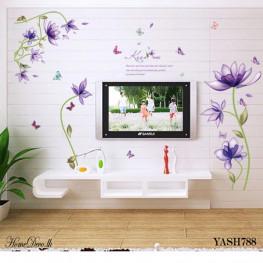 Purple Flowers Wall Sticker - YASH788