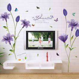 Purple Flowers Wall Sticker - YASH790