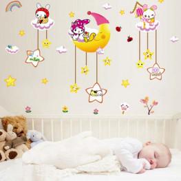 Moon n Stars Baby Wall Sticker - YASH793