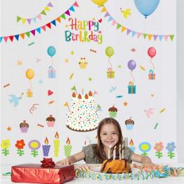 Happy Birthday Wall Sticker - YASH794