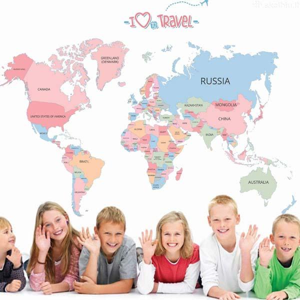World Map Wall Sticker - YASH796