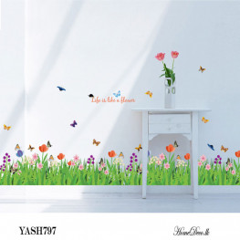 Flowers Border Wall Sticker - YASH797