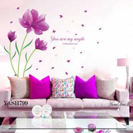 Purple Flowers Wall Sticker - YASH799