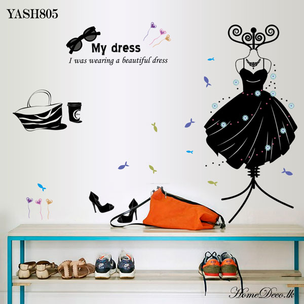 Dress Design Wall Sticker - YASH805