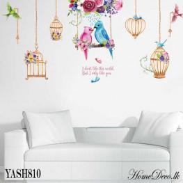Bird Couple Wall Sticker - YASH810