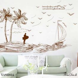 Beach Scenery Wall Sticker - YASH814