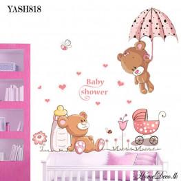 Baby Shower Pink Wall Sticker - YASH818