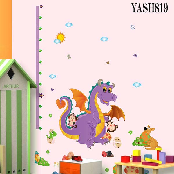 Dragon Height Measure Sticker - YASH819