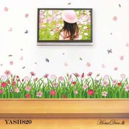 Pink Flowers Wall Sticker - YASH820