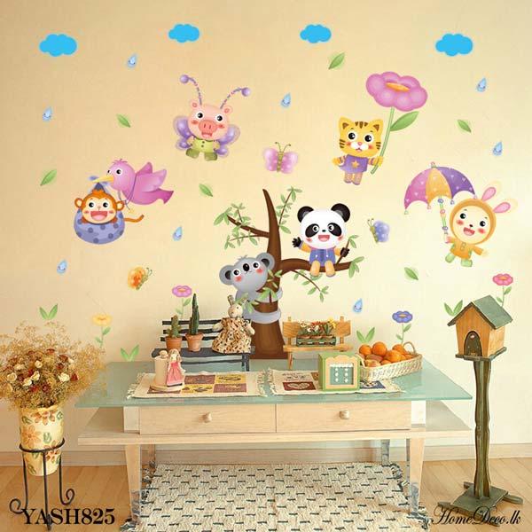 Panda And Animals Wall Sticker - YASH825