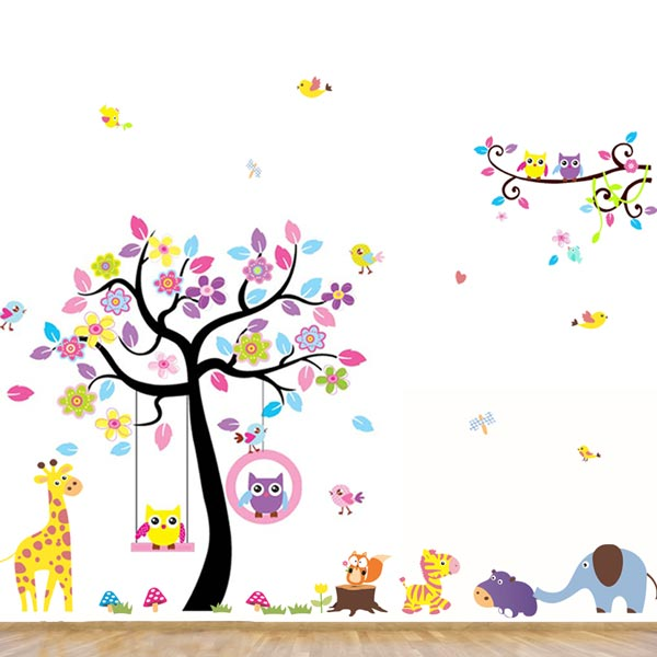 Large Baby Animal Wall Sticker - YASH844