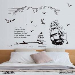 Two Black Ships Wall Sticker - YASH860