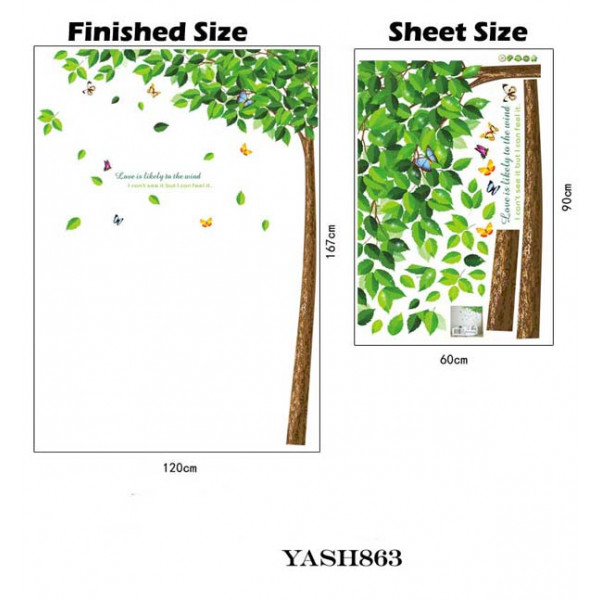 Green Tree Wall Sticker - YASH863