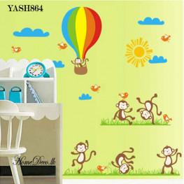 Monkey Friends Wall Sticker - YASH864