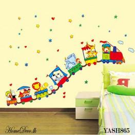 Animal Train Wall Sticker - YASH865