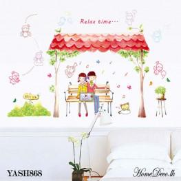 Loving Couple Wall Sticker - YASH868
