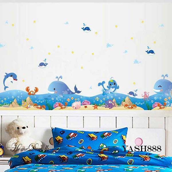 Dolphin And Wale Wall Sticker - YASH888
