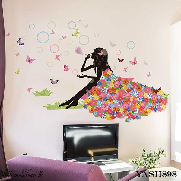 Flower Girl Wall Sticker - YASH898