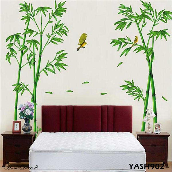 Two Bamboo Trees Wall Sticker - YASH902