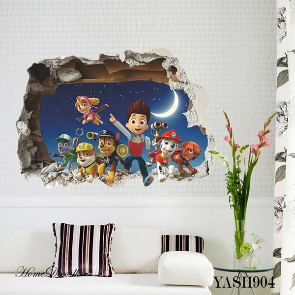Paw Patrol 3D Wall Sticker - YASH904