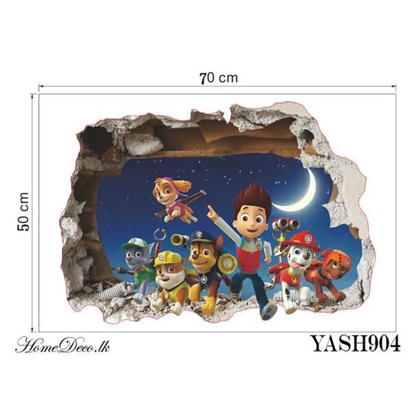 Paw Patrol 3D Wall Sticker - YASH904
