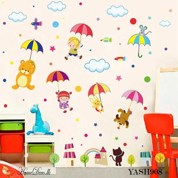 Animal Flying Kids Wall Sticker - YASH908