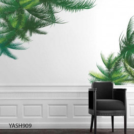 Green Leaves Wall Sticker - YASH909