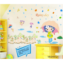 Rainy Day Wall Sticker - YASH912