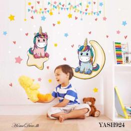 Baby Unicorn Kids Wall Sticker - YASH924