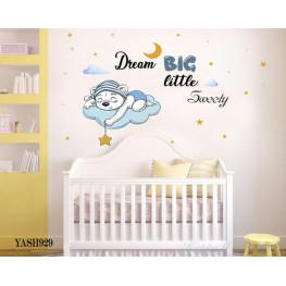 Dream Big Baby Boy Sticker - YASH929