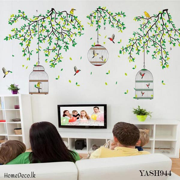 Bird Cages Wall Sticker - YASH944