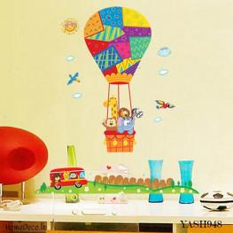 Hot Air Balloon Wall Sticker - YASH948