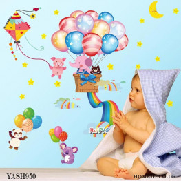 Fly with Balloon Wall Sticker - YASH950