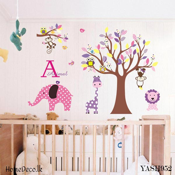 Elephant and Tree Wall Sticker - YASH952