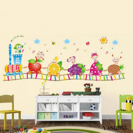 Fruits Train Wall Sticker - YASH955