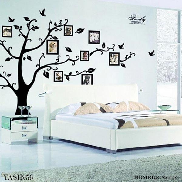 Black Photo Frame Tree Wall Sticker - YASH956