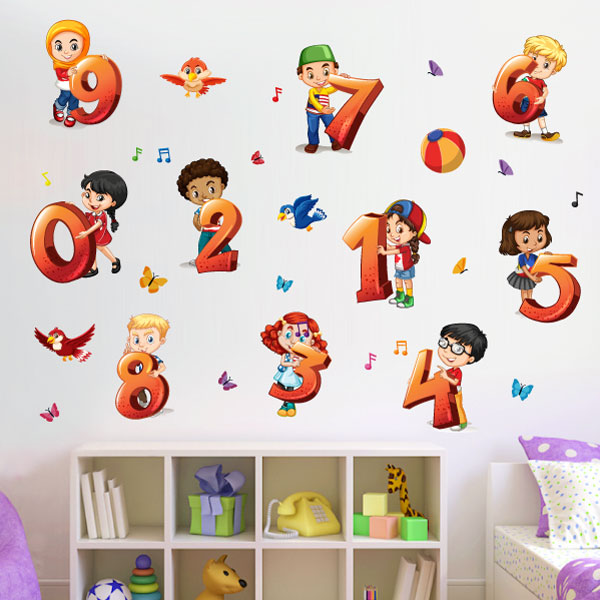 Kids Numbers Wall Sticker - C1002