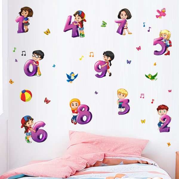 Kids Numbers Wall Sticker - C1003