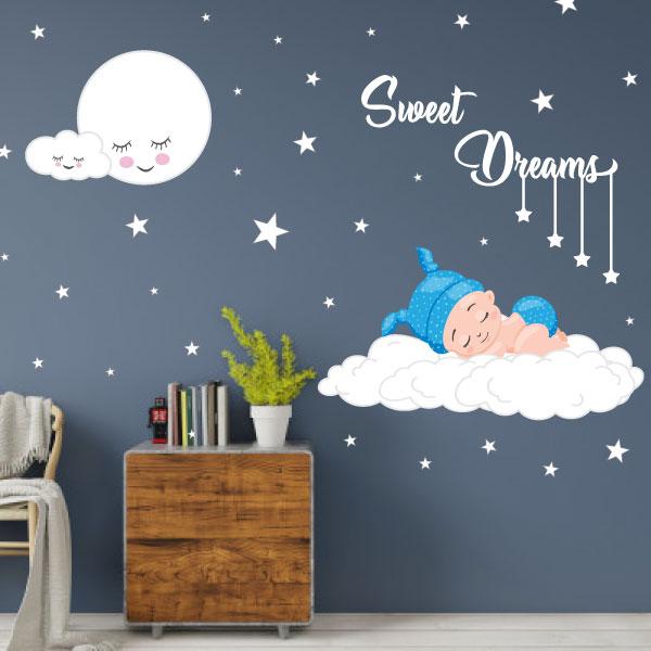Cute Baby Sleep Wall Sticker - C1004