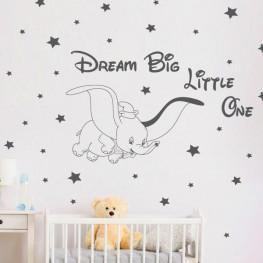 Dumbo Baby Elephant Wall Sticker - C1022