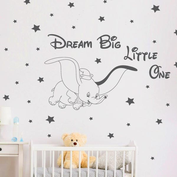 Dumbo Baby Elephant Wall Sticker - C1022
