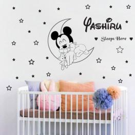 Baby Mickey Sleeps Wall Sticker - C1026