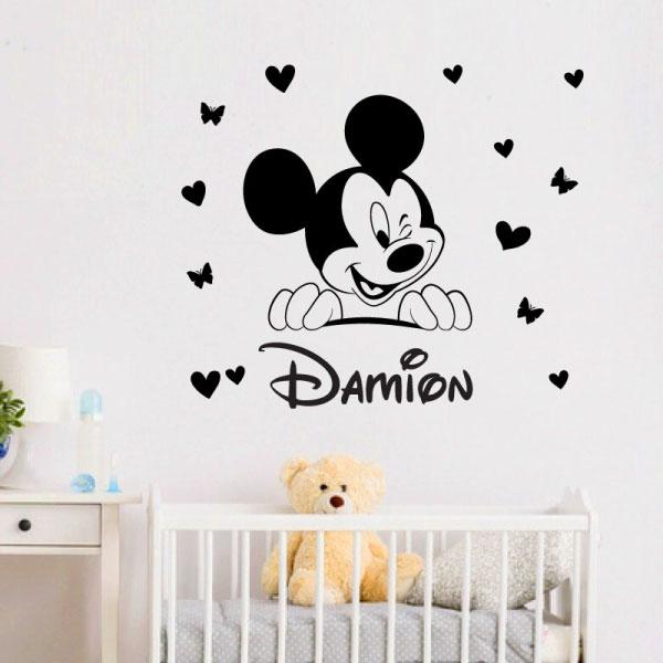 Baby Mickey Winkling Wall Sticker - C1027