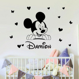 Baby Mickey Winkling Wall Sticker - C1027