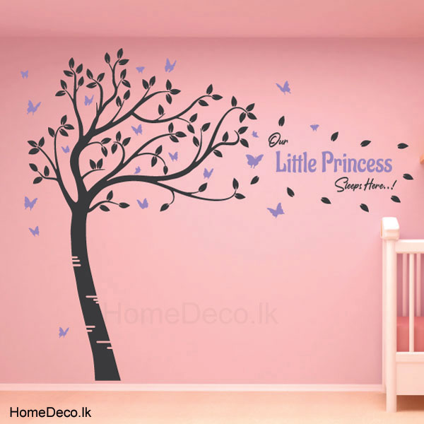 Large Baby Room Tree Wall Sticker - C1041