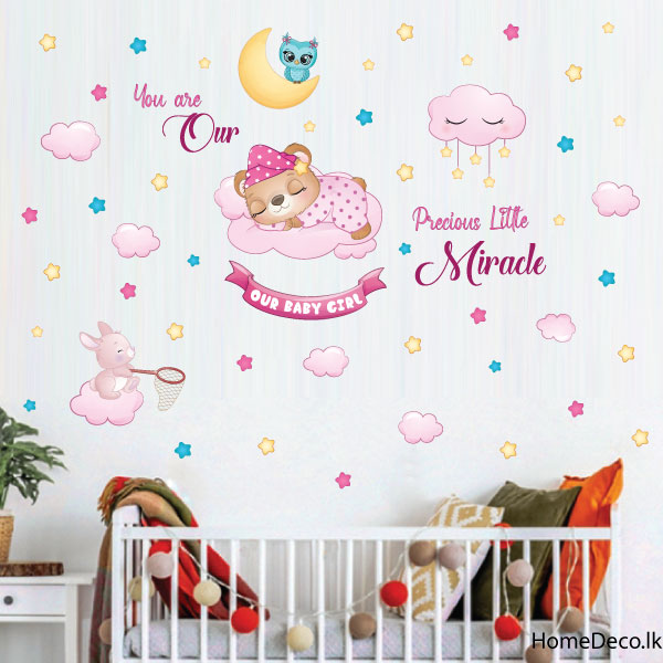 Miracle Baby Girl Wall Sticker - C1053