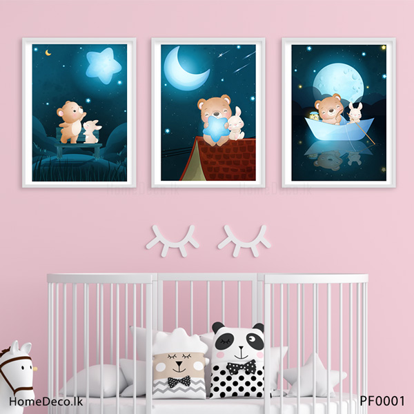 Bear and Bunny Wall Art Sticker - PF0001