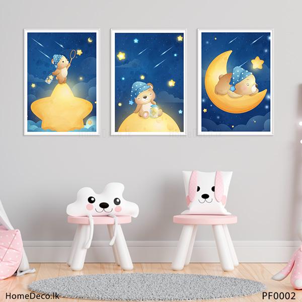 Cute Bear Baby Wall Art Sticker - PF0002