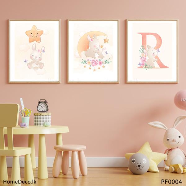 Cute Little Bunny Wall Art Sticker - PF0004